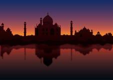 Taj at Night. Illustrated view of Taj mahal Royalty Free Stock Images