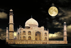Taj-night Stock Photography