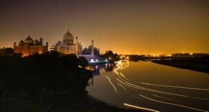 Taj with trails royalty free stock image