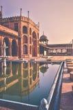 Taj ulMasajid入口在博帕尔印度 免版税库存照片