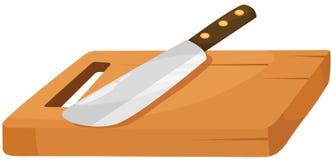 Tajadera y cuchillo ilustración del vector