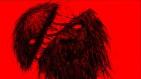 Tajado por el monstruo de los zombis de la espada Color de fondo rojo libre illustration