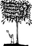 Tajar un árbol Imagen de archivo libre de regalías