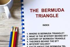 Tajemnica Bermuda trójbok Fotografia Stock