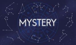 Tajemnica Planetuje horoskop astrologii pojęcie Obrazy Royalty Free