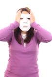 tajemnicy maskowa kobieta Fotografia Royalty Free