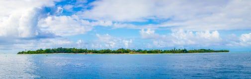 Tajemnicy wyspa panorama - Vanuatu - Obrazy Stock