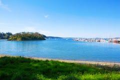 Tajemnicy zatoka, Marrowstone wyspa półwysep olimpijski stan Washington Zdjęcia Royalty Free