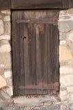tajemnicza drzwi drewniany Obrazy Stock