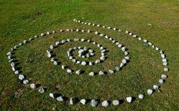 Tajemnicza spirala w górach Obrazy Royalty Free