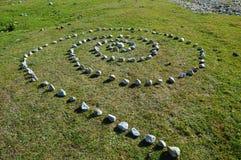 Tajemnicza spirala w górach Zdjęcia Royalty Free
