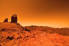 Tajemnicza ziemna planeta Zdjęcia Royalty Free