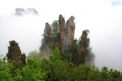 Tajemnicze góry Zhangjiajie. Obrazy Royalty Free