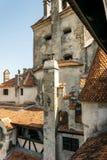Tajemniczy średniowieczny grodowy otręby w Transylvania, Rumunia zdjęcie royalty free