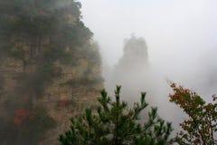 Tajemniczy Halny Zhangjiajie. Fotografia Royalty Free