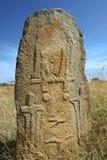 Tajemniczy megalityczni Tiya filary, UNESCO światowego dziedzictwa miejsce, Etiopia Zdjęcie Stock