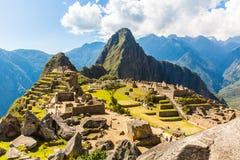 Tajemniczy miasto - Mach Picchu, Peru, Ameryka Południowa. Incan ruiny. Przykład poligonalny kamieniarstwo obraz stock