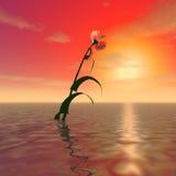 Tajemniczy ogromny kwiat ilustracji