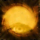 Tajemniczy oko, grunge tło Zdjęcie Stock