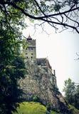 Tajemniczy piękny otręby kasztel Wampir siedziba Dracula w lasach Rumunia fotografia stock