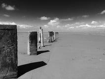 Tajemniczy plaża cienie Zdjęcia Royalty Free