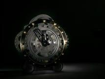 Tajemniczy srebro zegar Obraz Royalty Free