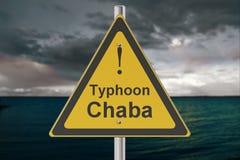 Tajfunu Chaba pojęcie royalty ilustracja