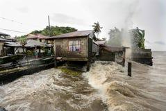 Tajfunu Haiyan uderzenia Filipińscy Zdjęcia Royalty Free
