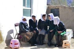 Tajik Hochzeit in Tashkurgan, Xinjiang, China stockfotografie