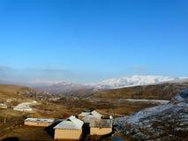 Tajik mountain village Royalty Free Stock Image
