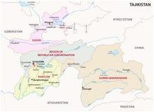 Tajikistan administracyjna i polityczna wektorowa mapa Fotografia Royalty Free