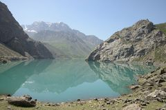 Tajikistan Fan Mountains Royalty Free Stock Photography