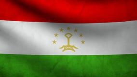 Tajikistan flag stock video footage