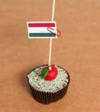 Tajikistan flag on a apple cupcake Stock Photos
