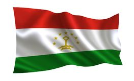 Tajikistan flag. A series of `Flags of the world.`    The country - Tajikistan flag. Tajikistan flag. A series of `Flags of the world.`   The country Royalty Free Stock Image
