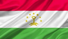 Tajikistan flag waving with the wind, 3D illustration. 3D rendering Stock Photo