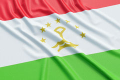 Tajikistan flag Stock Photo