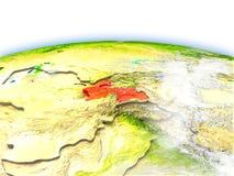 Tajikistan on globe Royalty Free Stock Photo