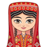 tajikistan Historische Kleidung Lizenzfreie Stockfotografie