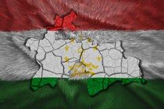 Tajikistan Map Royalty Free Stock Image
