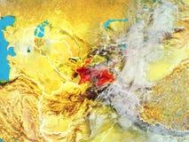 Tajikistan na ziemi od przestrzeni royalty ilustracja