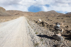 Tajikistan. Pamir highway. Road to the clouds Stock Photography