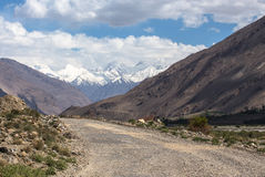 Tajikistan. Pamir highway. Road to the clouds Stock Images