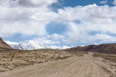 Tajikistan. Pamir highway. Road to the clouds Royalty Free Stock Images