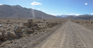 Tajikistan. Pamir highway. Road to the clouds.  Stock Photos