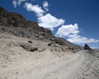 Tajikistan. Pamir highway. Road to the clouds Royalty Free Stock Photos