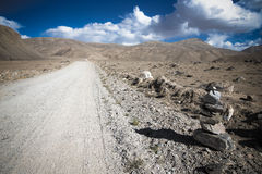 Tajikistan. Pamir highway. Road to the clouds. Toned Royalty Free Stock Photography