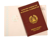 Tajikistan paspoort Royalty-vrije Stock Foto