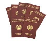 Tajikistan paspoorten Stock Fotografie