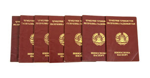 Tajikistan paspoorten Royalty-vrije Stock Foto's